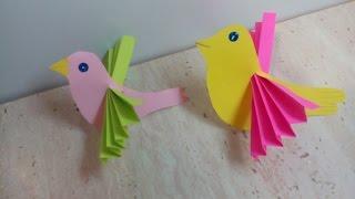 Птичка из бумаги .Bird Made of Paper.Ptitsa Iz Bumagi
