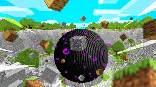 MINECRAFT But A BLACK HOLE Grows Every Second...