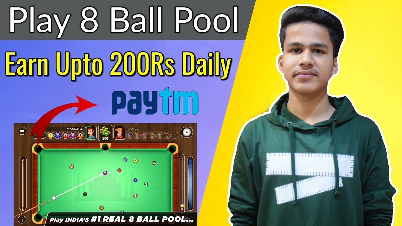 Play 8 Ball Pool and Earn Paytm Cash | Online Earners | Play games and Earn | Real 8 Ball pool Pro
