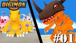 Digimon Adventure #01 - Férias de Verão. / Evolução Explosiva! Nasce Greymon!