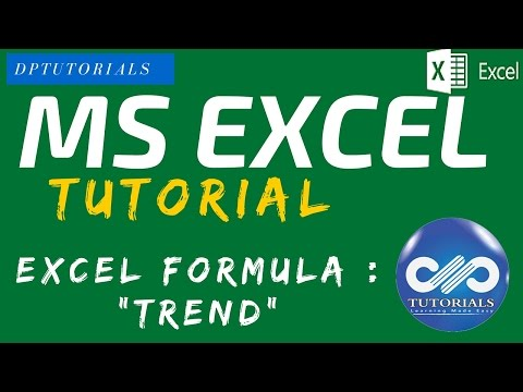 How To Use The Trend Function On Excel    MS Excel    Excel Formulae    Dptutorials