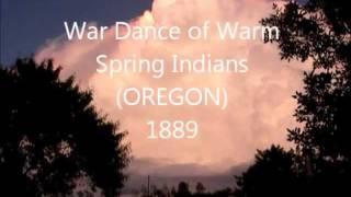 War dance Warm Spring Indians of Oregon 1889