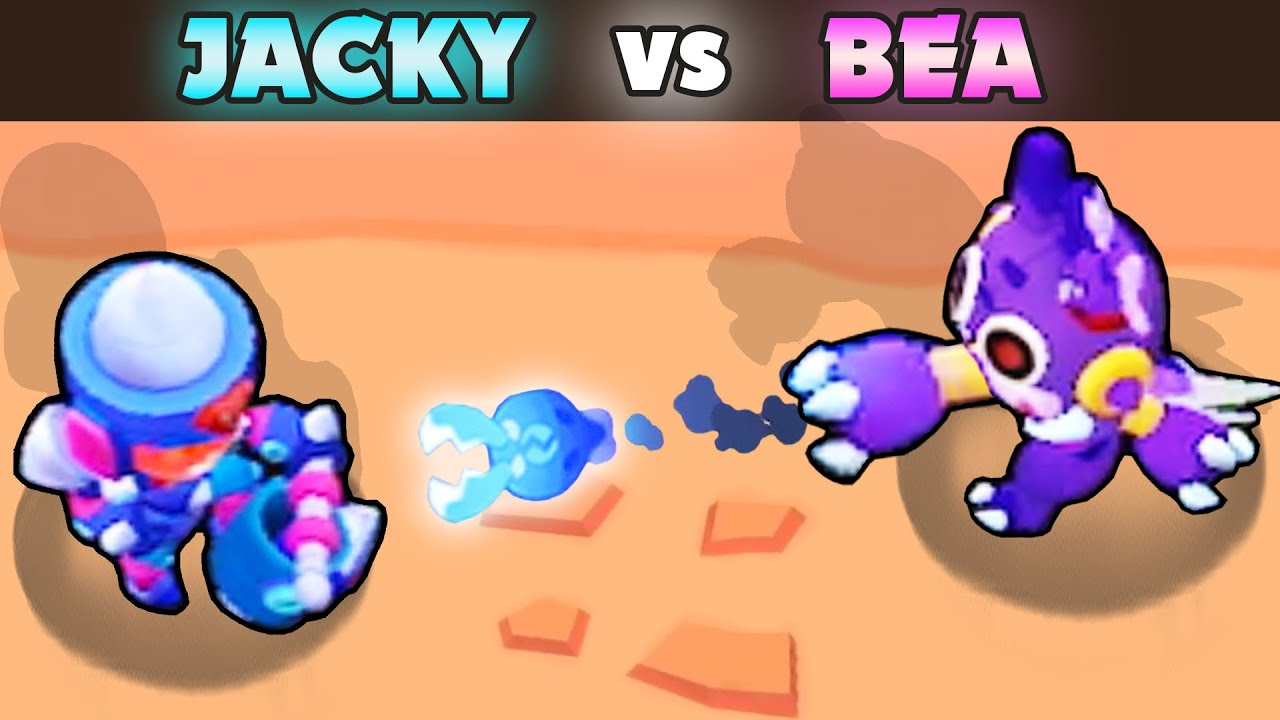 JACKY vs BEA | 1 vs 1 | 26 Tests | Best Brawler in Brawl Stars?