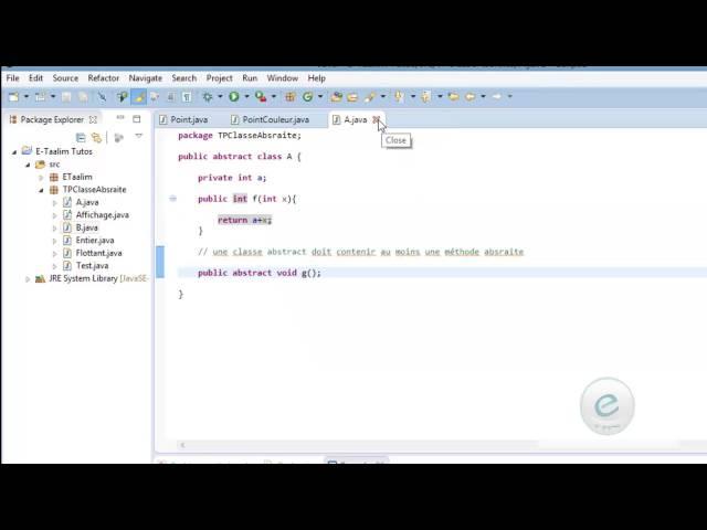 Java :  Classe et méthode finale & classe absraite