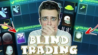 *OMG* BLIND TRADING - I GOT WHITE ZOMBAS, SPECTRE & MORE! - WHITE DRACOS ON THE LINE   Rocket League