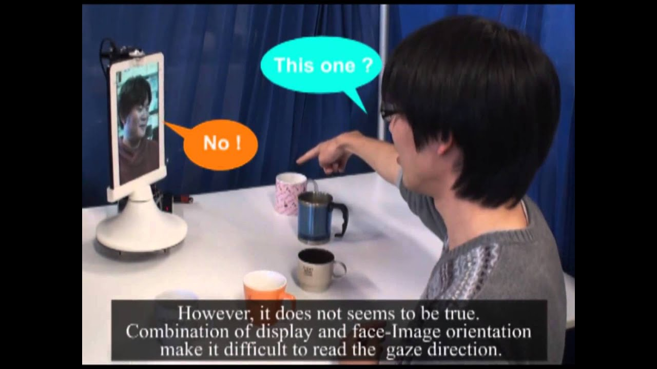 Study on Gaze Direction Perception of Face Image Displayed