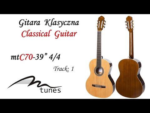 "Classical guitar 4/4 39"" M-tunes MTC70 video"