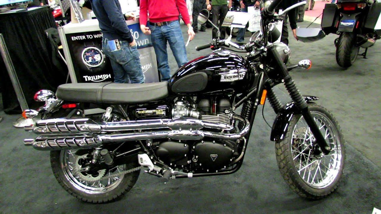 2013 Triumph Scrambler 900 - Walkaround - 2013 Montreal Motorcycle ...