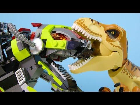 LEGO Jurassic World STOP MOTION LEGO Jurassic World: T-Rex Vs Dino Mech   LEGO   Billy Bricks