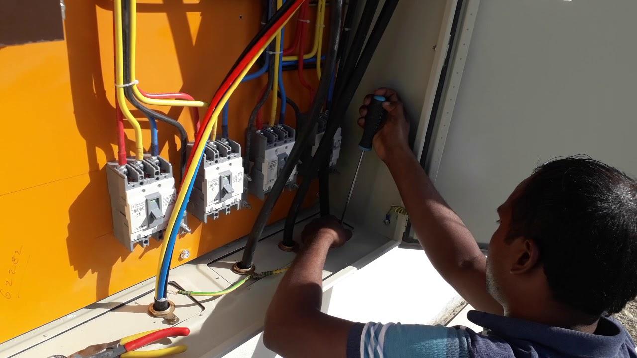 Dangerdanger Dangerous Electric Work At Rural Area Of Asia Working Mcb Miniature Circuit Breaker How Works Fixing Bd