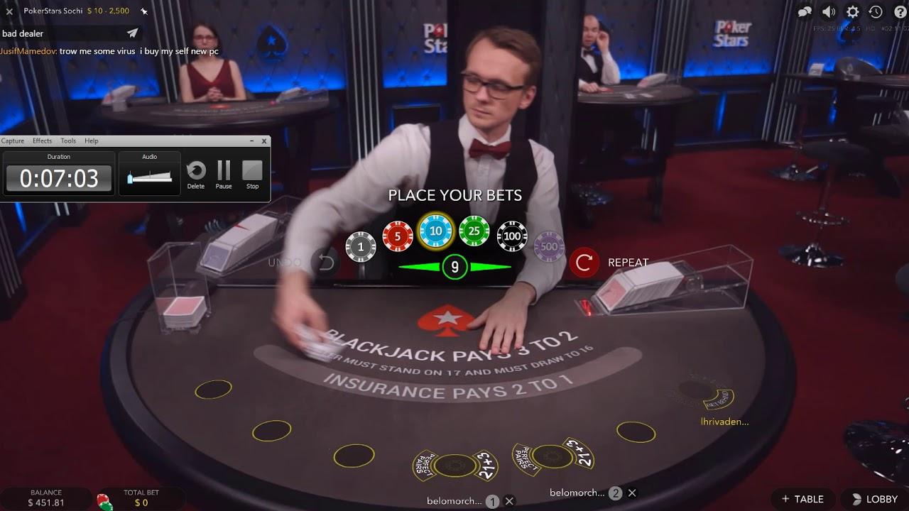 Pokerstars Blackjack Live