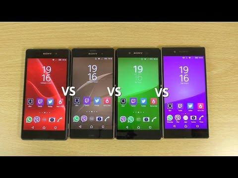 Sony Xperia Z5 VS Z3+ VS Z3 VS Z2 - Speed...