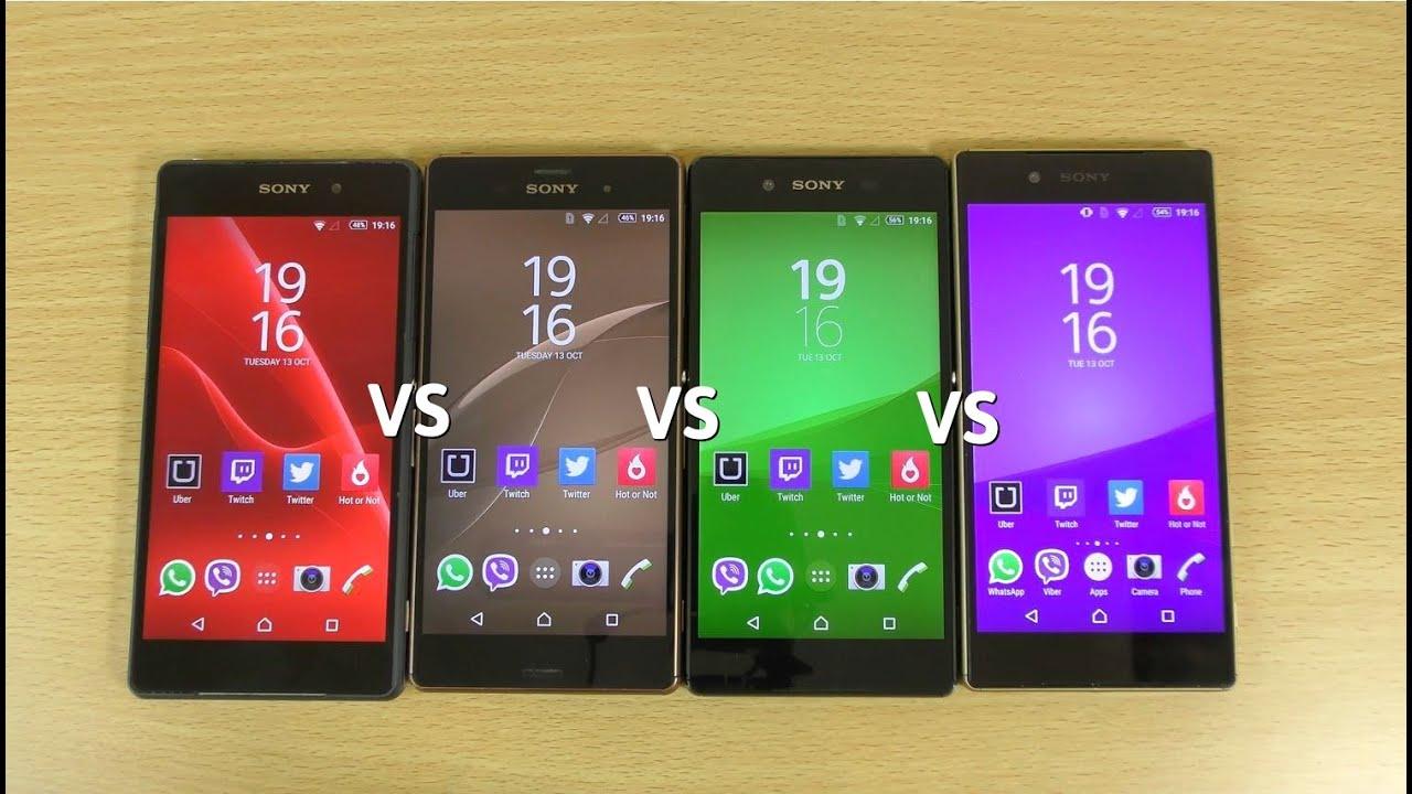 Sony Xperia Z5 VS Z3+ VS Z3 VS Z2 - Speed test