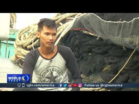 Hundreds of tons of plastic trash in sea off Thailand