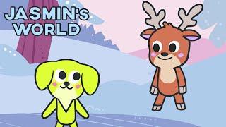 Jasmin's World - Learn and Sing with Tina the reindeer & Jasmin *Cartoon for kids*