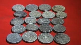14th and 17th century silver coins were found during excavation in Dhanbad
