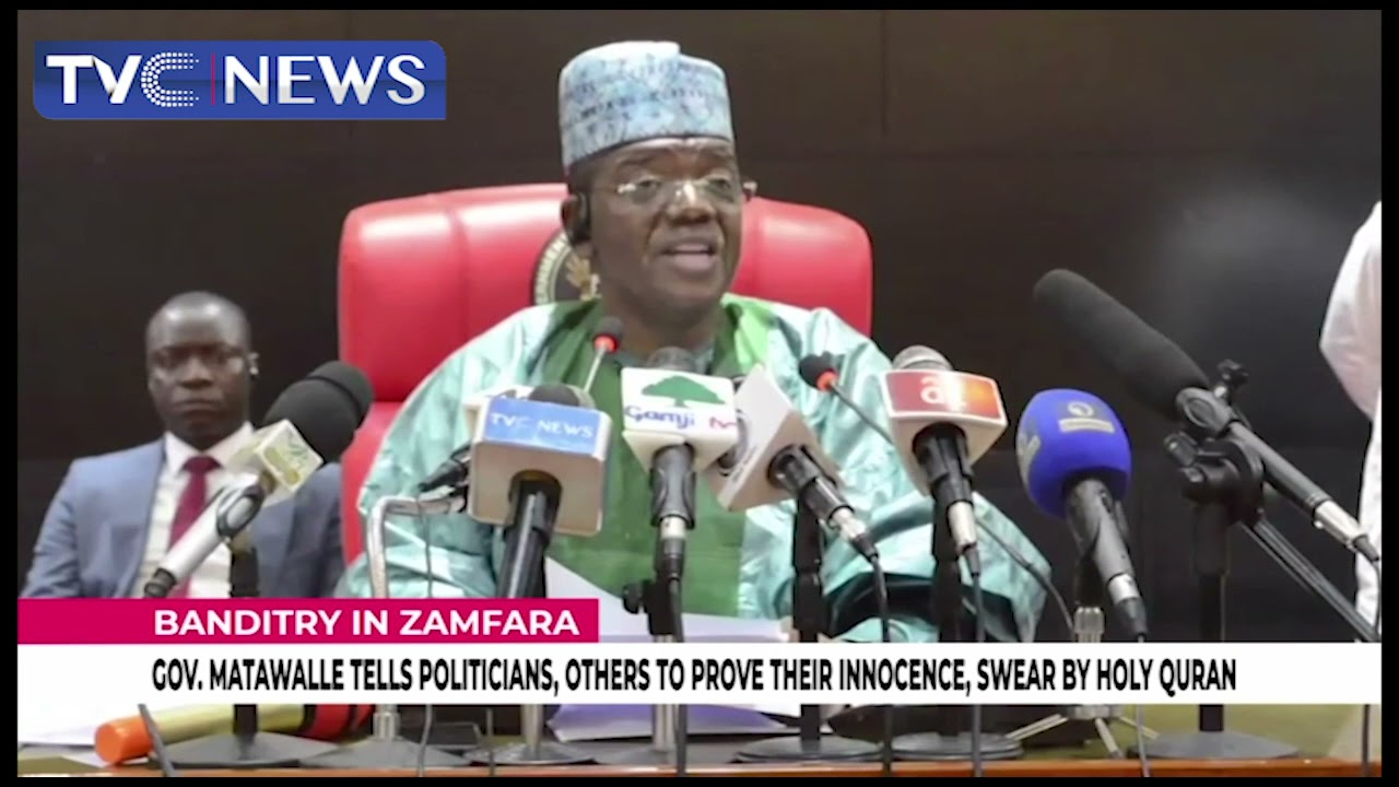 Download Banditry: Governor Matawalle Tells Politicians To Prove Their Innocence, Swear By Holy Qu'ran