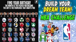 FIND YOUR BIRTHDAY! THE MONTH IS YOUR NBA PLAYER! THE DAY IS THE TEAM THAT DRAFTS YOU! NBA CHALLENGE