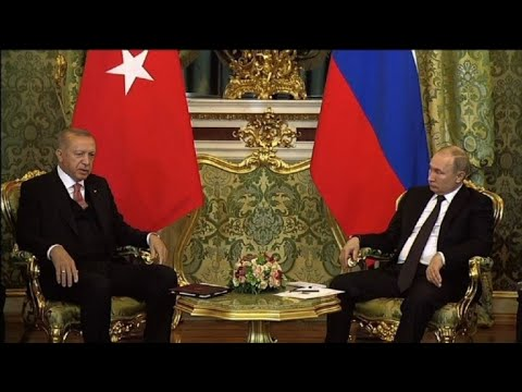 Russian President welcomes Recep Tayyip Erdogan in Moscow