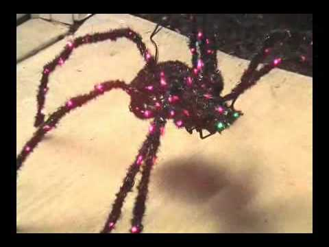 big animated spider halloween decoration youtube