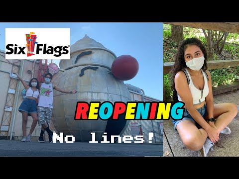 Six Flag Over Texas REOPENING 2020  🙌🏽🎢 || SOCIAL DISTANCING, LIMITED CAPACITY . MAKS