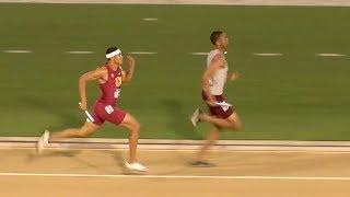 Michael Norman 43.06! 2nd Fastest Split In World History