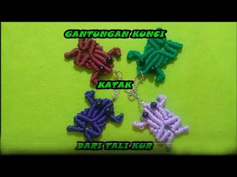 Membuat Gantungan Kunci Katak / Kodok Dari Tali Kur // macrame Tutorial // Frog // Animal