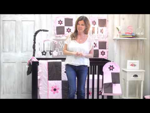 Pam Grace Creations Pam's Petals 10-Piece Baby Bedding Set Video