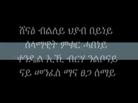 TIGRIGNA abraham G/medhn--habeney-lyrics