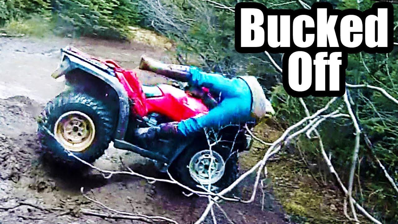 Atv 4x4 Mudding Honda Crash Youtube