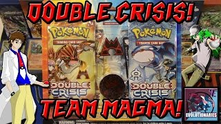 Pokemon Double Crisis Team Magma Blister Pack Opening!