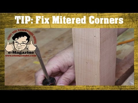 Woodworking Quick Tip #16- A fast fix for mitered corners!