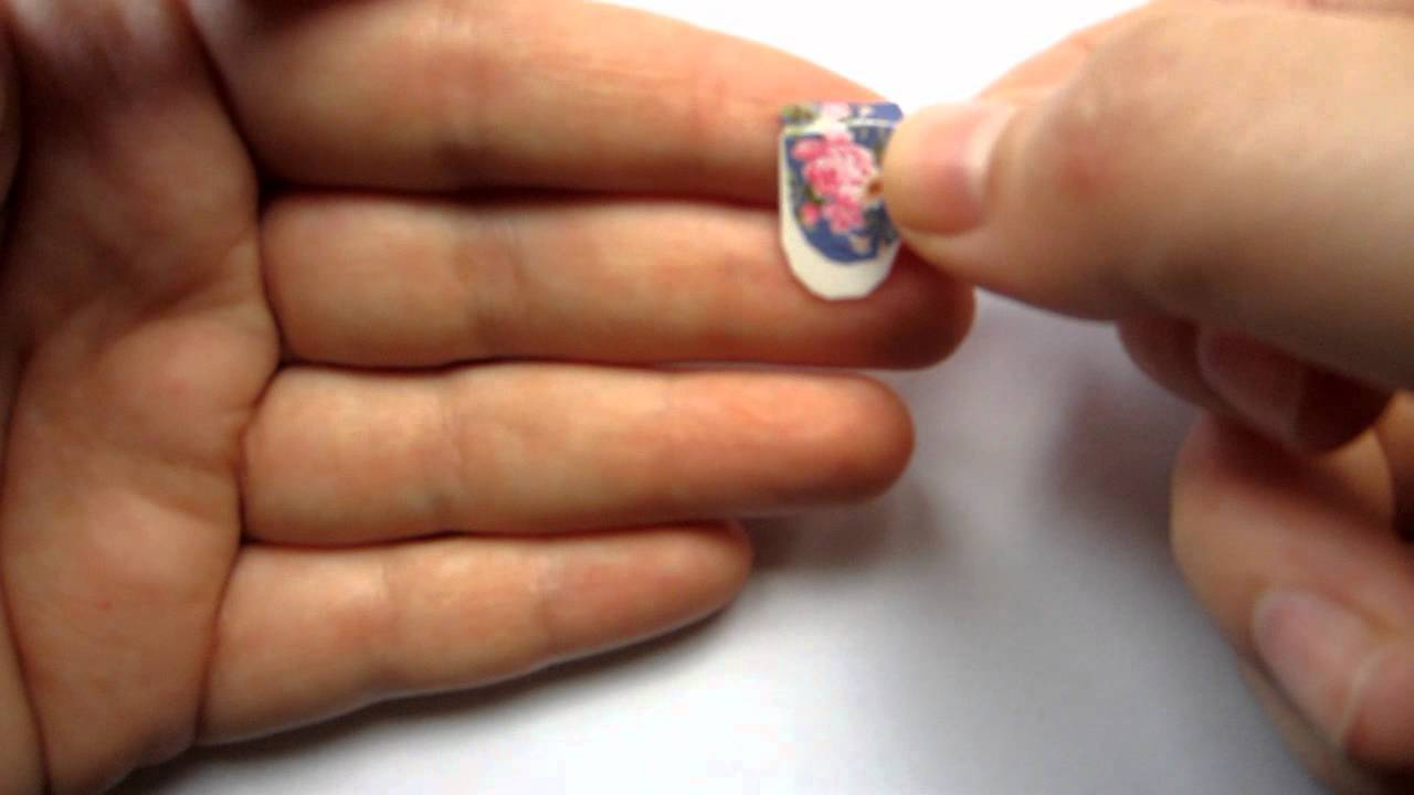 How To Apply Nail Art Decals Youtube