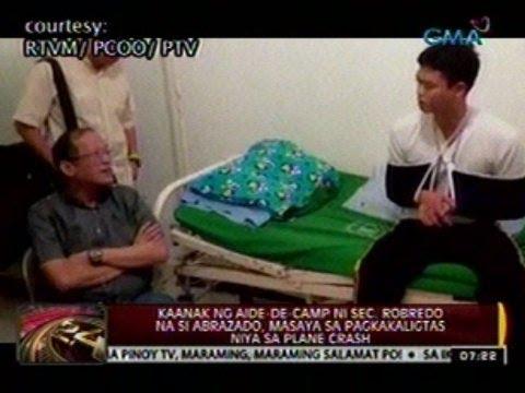 Kaanak ng aide-de-camp ni Robredo na si Abrazado, masaya sa pagkakaligtas sa plane crash