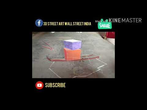 3D street art in India