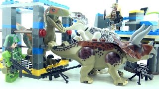 Indominus Rex Jurassic World - Lego compatible Dinosaurs Raptor Triceratops - Dinosaurs speed build