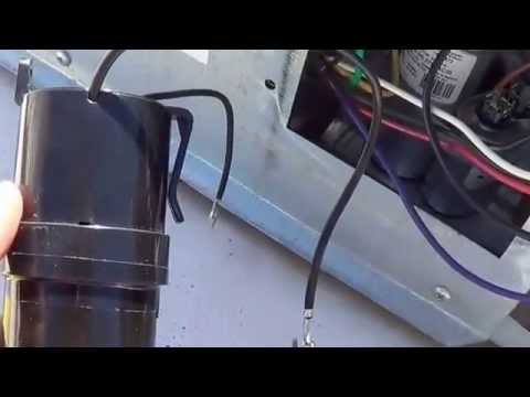 install hard start capacitor into rv air conditioner