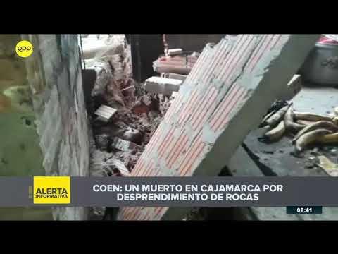 TERREMOTO EN PERÚ | Reportan un fallecido tras derrumbe de rocas en Cajamarca