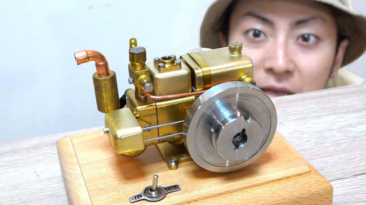 """【世界最小!?】ガソリンで本当に動くミニチュア""""エンジン""""のクオリティがやばすぎる!!"""