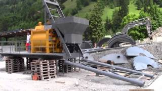 Henan NF Concrete Mixer & Concrete Batching Plant Installation in Switzerland