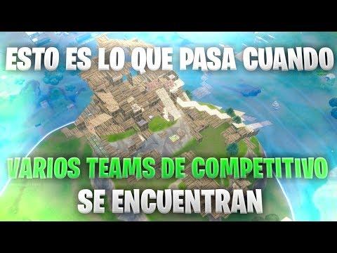 Esto es lo que pasa cuando varios teams de competitivo se encuentran... | FORTNITE | santidead