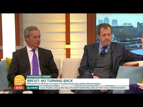 Nigel Farage Vs Alastair Campbell Face Off as Brexit Nears • 27th March 2017