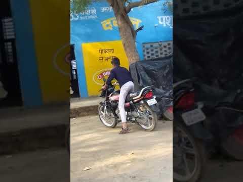 Shivam yadav driving hf deluxe bike