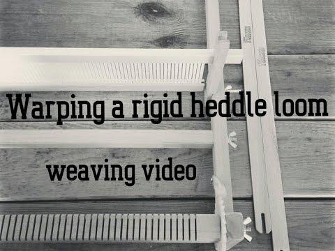 How I warp my rigid heddle loom - Weaving