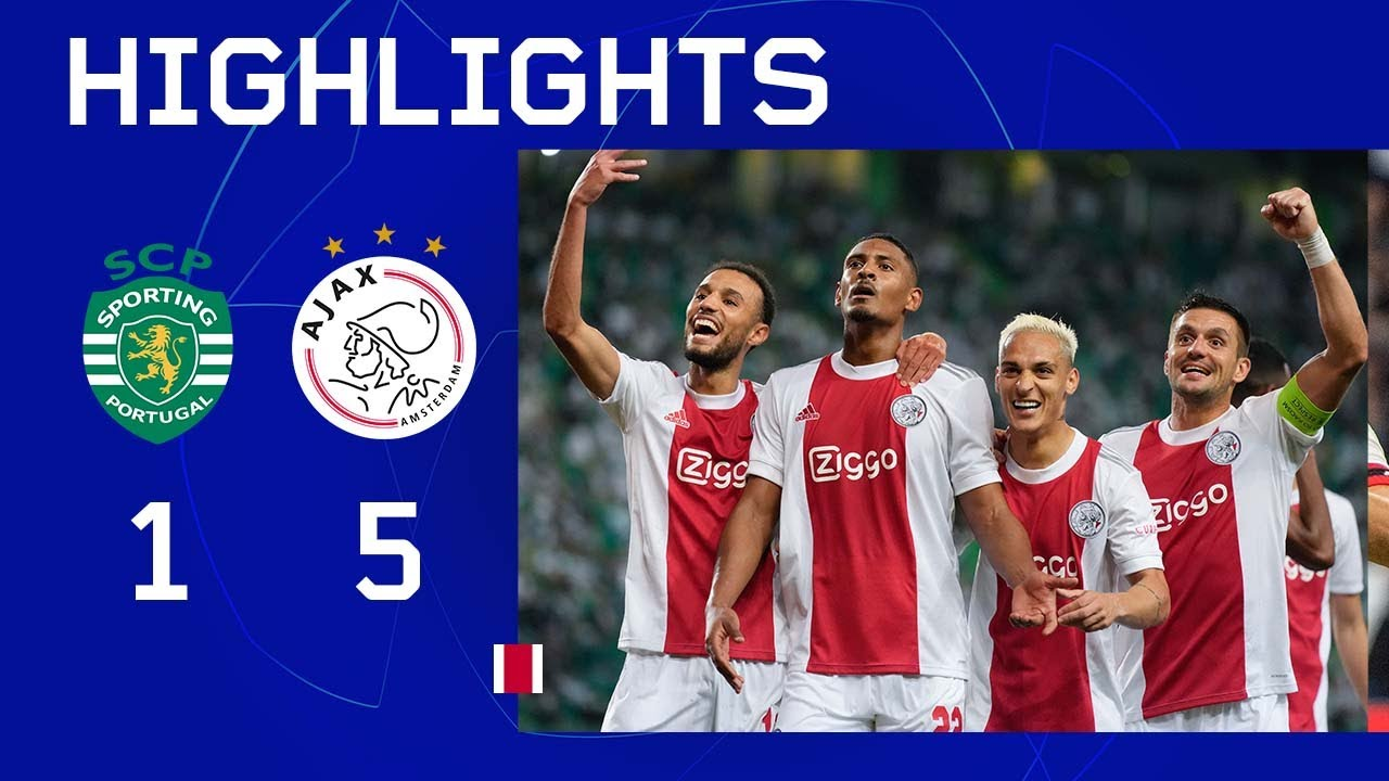 Download Haller maakt er 4!! 🤩   Highlights Sporting CP - Ajax   UEFA Champions League