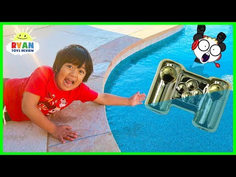 Ryan lost Combo Panda's Gaming Controller in the Swimming Pool.....