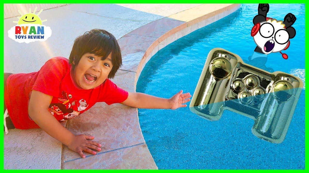 Download Ryan lost Combo Panda's Gaming Controller in the Swimming Pool.....