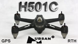 hubsan H501C - Unboxing and night flight with GPS  RTH (Banggood)