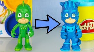 Trasformiamo GECO in GATTOBOY dei Pj Masks Super Pigiamini con il pongo Play Doh