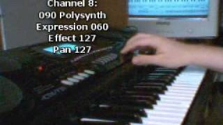 �������� ���� Casio CTK-731: How to make a style? - tutorial ������